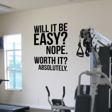 Absolutely.fitness motivation Wall Quotes poster, large Gym Kettlebell Crossfit Boxing decor letters Wall Sticker