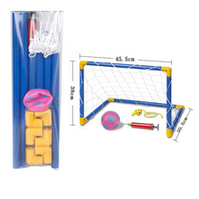 New kids Portable Football Goal Post Utility Net Soccer Goal Post + Net + Ball + Pump Safe Indoor Outdoor Children ChildrenToy J(China)