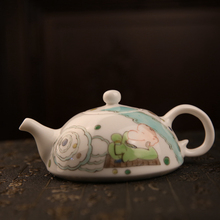 Limited Edition Jingdezhen Porcelain 200ml TeaPot One Piece Chinese Great Master Works On-glazed Handpainted Cartoon Tea Pot