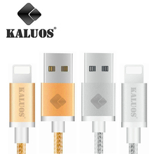 KALUOS 0.2m 1m 1.5m 2m 3m Fast Charging Braided Cable 8-Pin USB Data Sync Charge Cable For iPhone 5S 5 6S 6 7 Phone Charge Cable