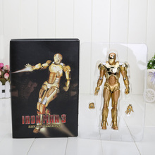 18cm Action Figure Toys Iron Man 1/7 scale painted figure Golden Iron Man3 figure Garage Kits Dolls Brinquedos Anime