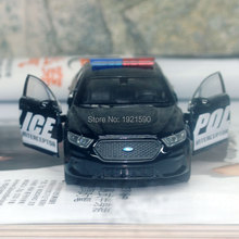 Brand New 1/36 Scale USA Ford Lnterceptor Police Edition Diecast Metal Pull Back Car Model Toy For Gift/Collection/Kids