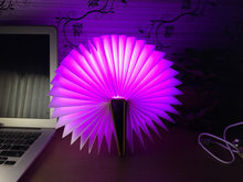 Creative 3D LED 7 color book changing visual illusion light bedroom light free shipping action figures PMMA table lamp