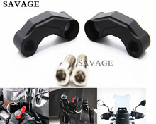 Hot Sales Motorcycle Black Mirrors Relocation Extension Adapter Kit For B M W R1200GS LC 2013-2015 R1200GS ADV 2014-2015(China)
