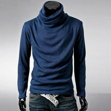 2017 New Men Winter Warm Turtleneck Pullover Thermal Sweater Multi Color Option Solid Design Men's Sweaters in Men's Pullovers