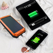Buy PowerGreen Mini Solar Panel 10000mAh External Battery Charger 5V Telephone Solar Charger Solar Power Bank Hiking for $26.51 in AliExpress store