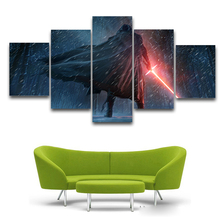 Popular Film Poster Star Wars Painting 5 Piece Canvas Art Figure Pictures of Movie Unframed star wars canvas wall art