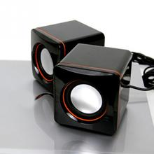 Mini Portable USB Music Sound Box Speaker Audio Music Player Speakers for iPhone iPad Phone MP3 Laptop PC Computer Black(China)