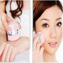 Women Girls 3D Pure Mineral Face Cheek Blush Blusher Powder Cosmetic With Sponge Portable 2 in 1 Makeup  H2