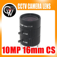 10MP 16mm HD Industrial Camera Fixed Manual IRIS Focus Zoom Lens C Mount CCTV Lens for CCTV Camera or Industrial Microscope