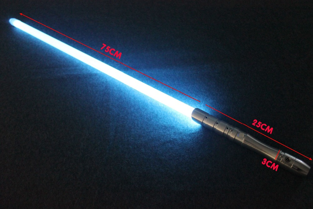 2018 New 1 Pcs Cosplay Lightsaber With Light Sound Led Red Green Blue Saber Laser Metal Sword Toys Birthday Star Kids Gifts Game (1)
