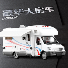 1:32 Scale Alloy Metal Diecast Car Model For Sprinter Luxury Motor home Recreational Vehicle RV Trailer Caravan Model(China)