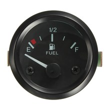New 2inch 52mm Universal Car Fuel Level Gauge Meter With Fuel Sensor E-1/2-F Pointer