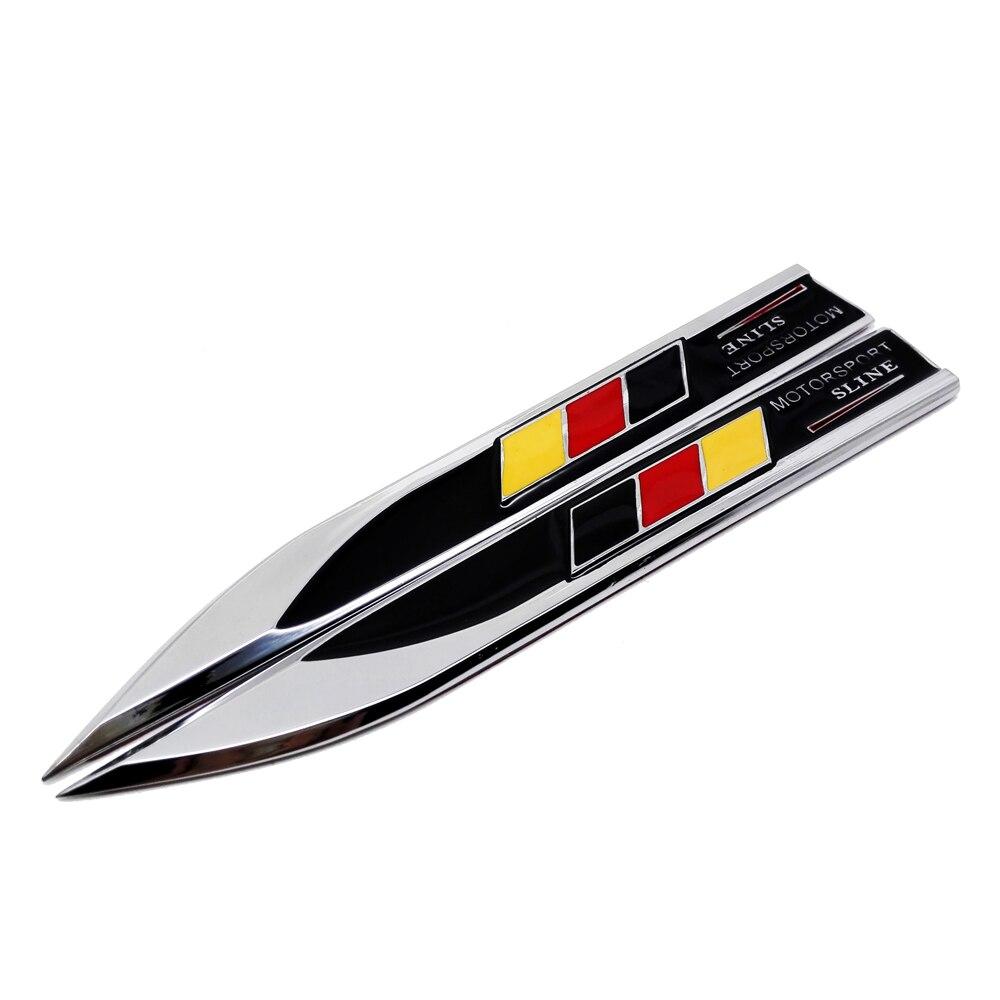 2x Auto Car German Germany Flag Emblem Badge Stripes Sticker Decals fit VW Audi
