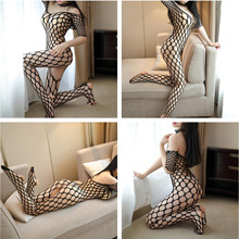 Buy Sexy Hot Erotic Fishnet Halter Backless Leopard Bodystocking Bodysuit Babydoll Lingerie Lenceria Porn Latex Catsuit Wetlook