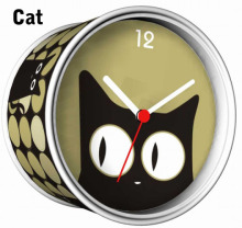 [In Stock] Cat Magnetic Cheap Wall Clocks,Cheap Desk Clocks,Cheap Table Function Clocks in Free Shipping(China)