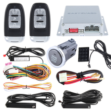 High quality PKE car alarm kit with remote engine start/stop and push button start stop, Touch password entry DC12V(China)