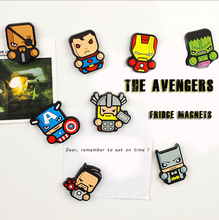 The Avengers Fridge Magnets Fresh Goods Cartoon Cute Marvel Batman Decorative Refrigerator Souvenir Magnetic Fridge Sticker A074(China)