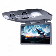 "XTRONS 3 Colours Monitor 15.6"" HD Wide Screen Overhead Car DVD Player Roof Mount Flip Down+170 Max Open Angle/IR FM/LED Light"