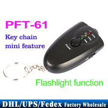 Free DHL Fedex 100PCS/lot PFT-61 LED Alcohol Tester Keychain Analyzer Breath Breathalyzer
