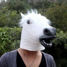 Fun horse mask 100pcs/lot Horse Head Latex Rubber Material Halloween Costume Theater Party Birthday Head Mask