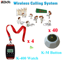 electronic queue system for restaurant waiter call bell with CE certification in 433mhz