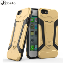 AKABEILA Mobile Phone Cases For Apple iPhone SE 5 5S 5G 55S 6C Covers iPhone55s Cases PC TPU Kickstand Bags Skin Housing Shell(China)