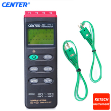 CENTER304 Portable K Type/Four Channels/PC Interface/4 Channels Input Thermocouple Thermometer(China)