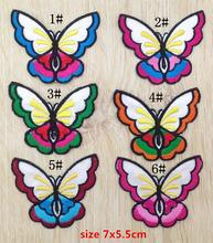 MIX6pcs butterfly iron on Patches for clothing clothes Apparel Sewing lace fabric sew on patch Supplies Applique DIY accessory