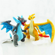 25CM Anime Figure Charizard Plush Dolls Mega evolution XY Charizard Soft Stuffed Animals Plush Doll Kids Children Christmas Gift(China)