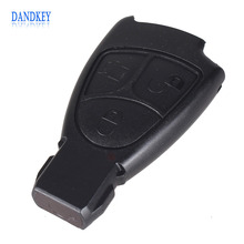 Dandkey 3pcs/lot For Mercedes-Benz For MB E C S ML SL Keyless Fob Shell Smart Remote Key Case 3 Buttons For Mercedes Key