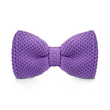 LF-304 Fashion New Arrival Knitted Crochet Men`s Bowties Adjustable Purple Solid Neckwear For Party Bussiness Free Shopping