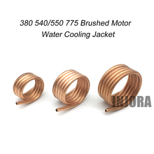 RC Boat Brushed Motor Water Cooling Jacket Copper Water Cooling Cover for 380 540 550 775 Brushed Motor