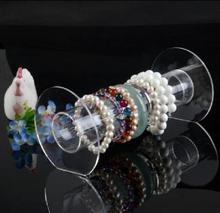 MOODPC Free Shipping 2pcs 21*10.5cm Clear Organic Glass/Acylic Bracelet Display Stand Holder,Fashion Jewelry Display