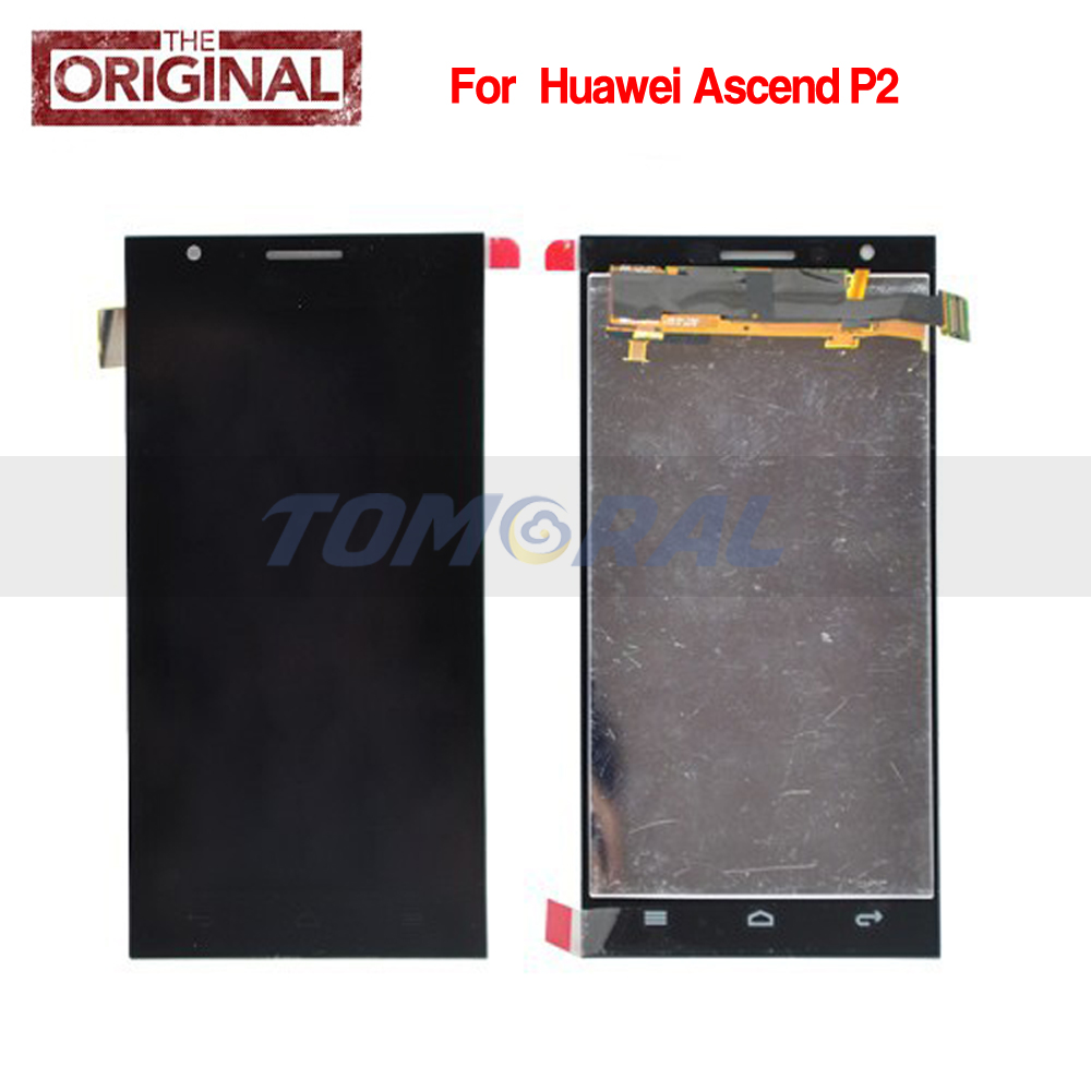 Tomoral For Huawei Ascend P2 Black LCD Screen Display with touch screen digitizer assembly  Free shipping<br><br>Aliexpress