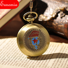 Russian Emblem Army Military Classic Skeleton Men Watch Steampunk Pocket Watch Luxury Vintage Hand Wind Mechanical Pocket Watch