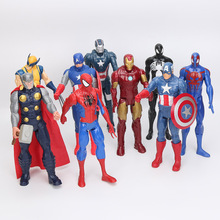 30cm Anime Captain America Ironman Spiderman Thor PVC Action Figure Toy(China)