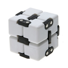 White Infinite Cube  EDC Decompression Fidget Cube for ADD ADHD Anxiety Stress Anti Relief Magic Cube Rubik Decompression Toys