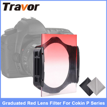 Graduated Red Lens filter for Cokin P series +1 lens filter bag +2PCS Microfiber Cloth for free(China)