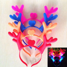 Hot Funny Cute Christmas Headband Headdress Luminous Headband Antlers Ears Adorable Hairpin(China)