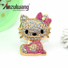 ANZULWAN Diamond Cats Car Perfume Air Conditioner Vent Outlet Air Freshener 100 Original Fragrance Car Cat Styling Accessories(China)