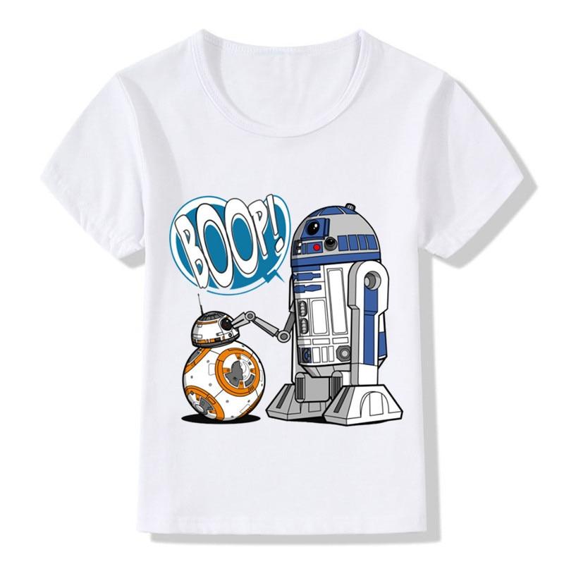 Star Wars T-Shirt Bébé R2d2 Garçon Fille T-Shirt Robot Design Drôle Vêtements