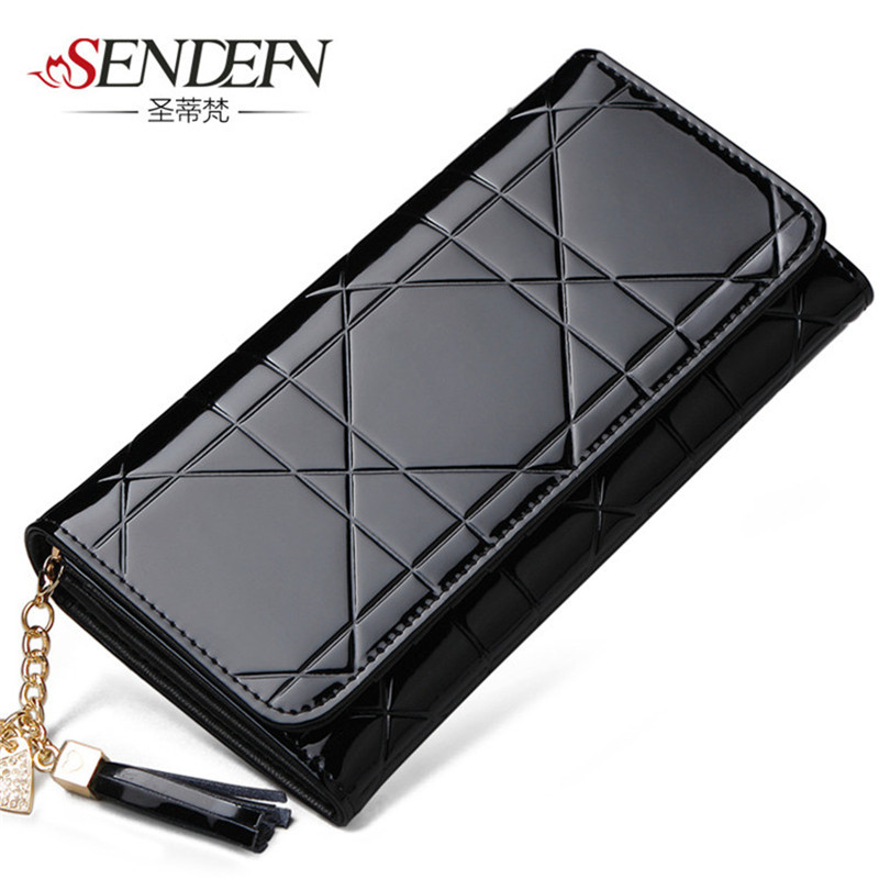 SENDEFN Lady Fashion Party  Brand Designer Long Leather Clutch Bag Large Capacity Womens Card Holder Wallet Card Holder Womens<br><br>Aliexpress