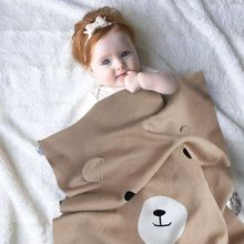 2017 Kids Baby Cute Bear Napping Blanket Soft Bedding Towel Cover Throws Swaddle Wrap mohair blankets receive free stuff  manta