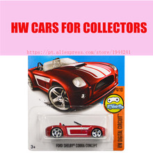 Toy cars 2016 New Hot Wheels 1:64 ford shelby cobra concept Models Metal Diecast Car Collection Kids Toys Vehicle Juguetes(China)