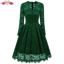 Buy Tunic Lace Dress Vintage Female Summer Robe Rockabilly Dresses Casual Long Swing Evening Party Dresses Vestido De Festa Z3D29-1 for $26.57 in AliExpress store