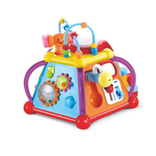 Hot Selling Baby Educational Toy Musical Activity Cube Play center 15 Functions & Skills Learning & Educational Toys for kids