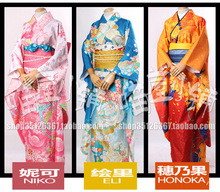 Love Live!Jan.Spring Kimono Full set All 9 figures Kotori Nico Hanayo Cosplay costume in stock Halloween costume for women