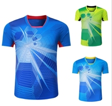 New badminton shirt Sportswear sweat Quick Dry breathable , Women/ Men table tennis jersey shirt , Ping pong shirt T Shirts