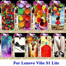 "Flexible Silicon Cell Phone Cases For Lenovo Vibe S1 Lite Lenovo S1La40 5.0"" Housing Bag Paintbox Chocolate Candies Shell Covers"